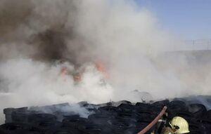 آتش سوزی بارانداز کالا در شهرری