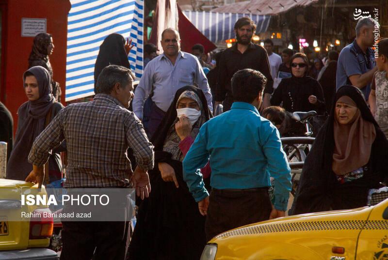 تصاویر این گزارش بازار و خیابانهای کرمان و بی تفاوتی مردم را نشان میدهد.