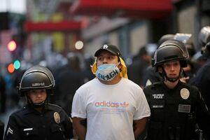 سبقت آمار بازداشتیهای اعتراضات آمریکا از بازداشتهای یکساله هنگکنگ + تصاویر