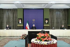 عکس/ ویدیو کنفرانس روحانی با مدیران استانها