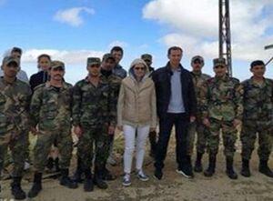 «بشار اسد» و همسرش تحریمهای آمریکا را به چالش کشیدند