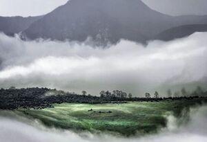 عکس/ کوههای گلستان برفراز ابرها