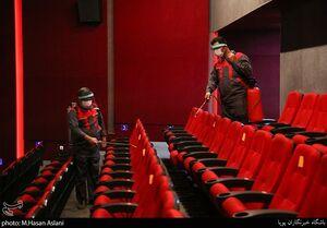 عکس/ آماده سازی سینماها برای بازگشایی