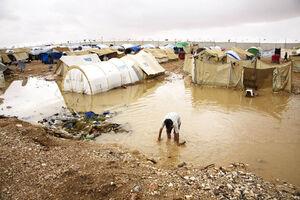 سوریه سیل باران
