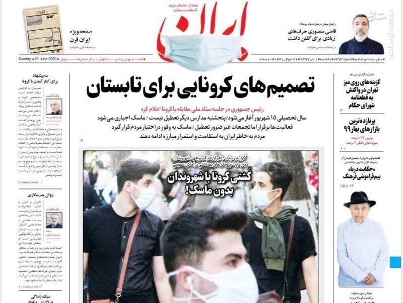 ایران: تصمیمهای کرونایی برای تابستان