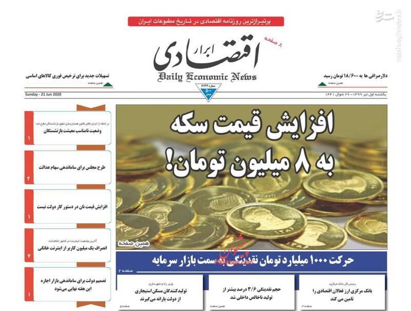 ابرار اقتصادی: افزایش قیمت سکه به ۸ میلیون تومان!