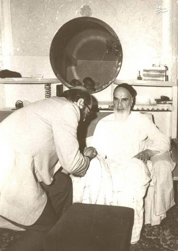 شهید دکتر مصطفی چمران در محضر امام خمینی