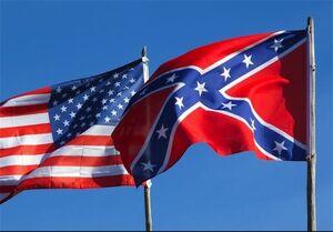 فیلم/ اهتزار پرچم دوران بردهداری در آمریکا !