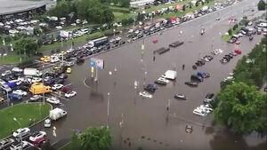 عکس/ مسکو غرق در آب