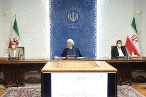 جمع آوری کتابخانه اتاق جلسات حسن روحانی