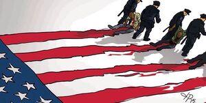 تصویر قابل تامل از پرچم آمریکا+عکس