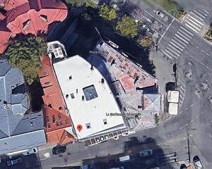 عکس هوایی از هتل محل فوت منصوری