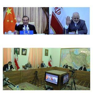 گفتگو ویدئویی ظریف با وزیرخارجه چین