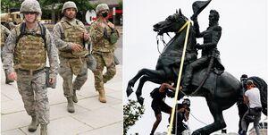صدها نیروی گارد ملی آمریکا در واشنگتن به حالت آمادهباش درآمدند