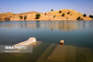 عکس/ زیر آب رفتن روستاها پس از آبگیری سد گتوند