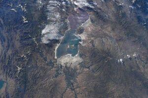 عکس یک فضانورد از دریاچه ارومیه