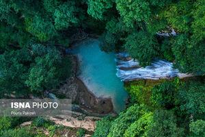 تصاویر زیبا از آبشار «لوه»