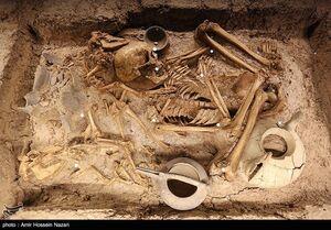 عکس/ گور بانوی سه هزار ساله در موزه قزوین