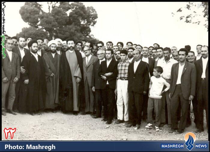 دکتر بهشتی در «آباده» (استان «فارس»)
