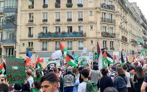 تظاهرات حمایت از فلسطین در پاریس +عکس