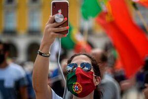 عکس/ تظاهرات ضد نژاد پرستی در پرتغال