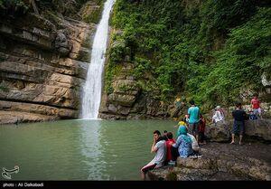 عکس/ آبشار زیبا در دل طبیعت گرگان