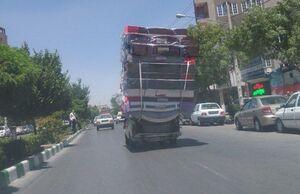 حمل بار عجیب در مشهد