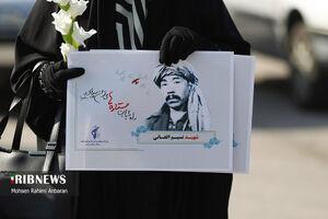 ورود پیکر مطهر شهید «نسیم افغانی» به مشهد