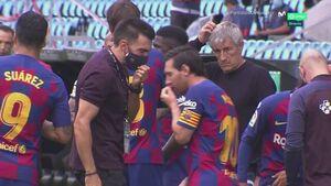 فیلم/ خشم مسی علیه دستیار سرمربی بارسلونا