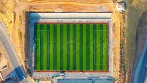 فیلم/ زمین چمن زیبا و جذاب ورزشگاه پاوه