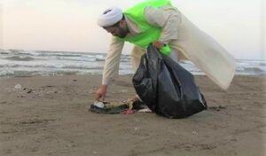عکس/ پاکسازی سواحل توسط روحانیون دریادل