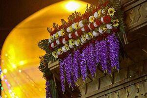 عکس/ گلآرایی و چراغانی حرم مطهر رضوی در آستانه میلاد با سعادت امام رضا (ع) - کراپشده