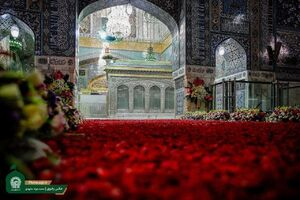عکس/ گلآرایی زیبای داخل حرم امام رضا (ع)