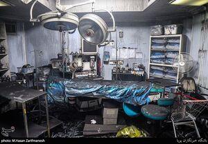 تجهیزات سوخته کلینیک درمانی سینا