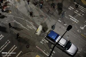 عکس/ ادامه خشونت پلیس آمریکا با معترضان به نژادپرستی
