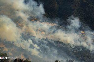 عکس/ آتش بر جان جنگلهای پاوه