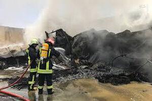 آتشسوزی در فضای پشت بازار گل بلوار ابوذر