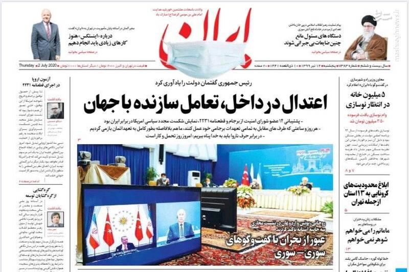 ایران: اعتدال در داخل؛ تعامل سانده با جهان