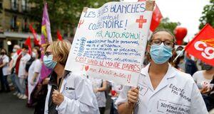 عکس/ تظاهرات پزشکان در پایتخت فرانسه
