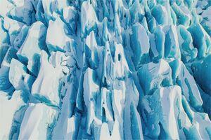 عکس/ یخچالهای طبیعی را از بالا ببینید