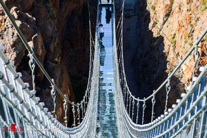 عکس/ نخستین پل معلق قوسی شکل جهان