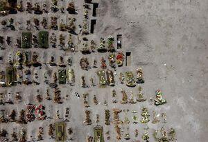 عکس/ قبرستان کروناییها را از بالا ببینید