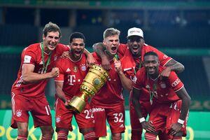 عکس/ جشن قهرمانی بایرن در جام حذفی آلمان