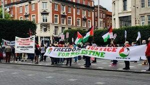 عکس/ مخالفت ایرلندیها با الحاق اراضی «کرانه باختری»