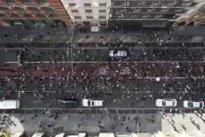 تصاویر هوایی از حضور معترضان در خیابانهای نیویورک