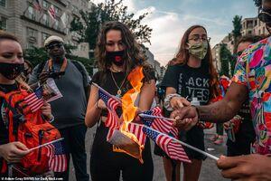 انفجار خشونت در تظاهرات آمریکا +فیلم