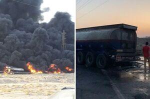 آتشسوزی مهیب ناشی از تصادف دو تانکر سوخت +فیلم