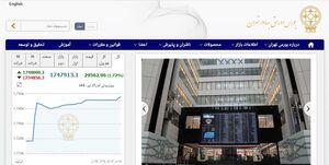 وضعیت افزایش شاخص امروز بورس تهران