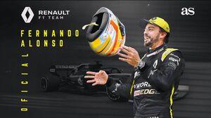 بازگشت آلونسو به مسابقات فرمول یک