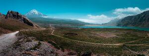 قله دماوند و سد لار در یک قاب+عکس